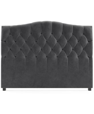 Hannah Queen Size Bed Head Cosmic Anthracite