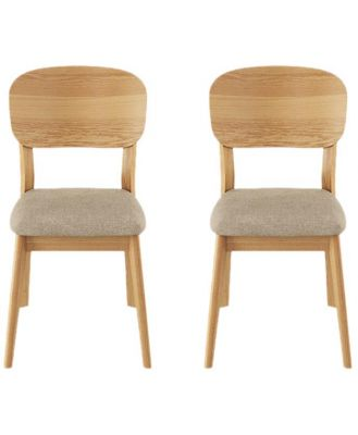 Mia Set of 2 Dining Chairs Stone