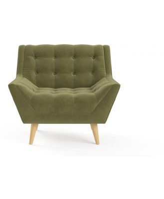 Pia Armchair Olive Green