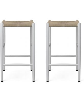 Sahara Set of 2 Bar Stools Low Natural