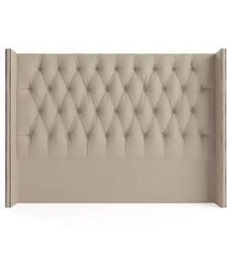 Stella Queen Size Winged Bed Head French Beige