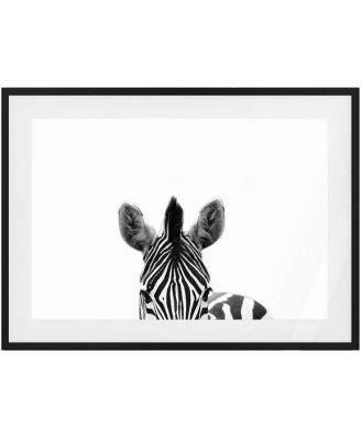 The Zebra Print Black Wood Frame