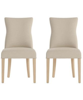 Zoe Set of 2 Dining Chairs Natural Solid Beech French Beige