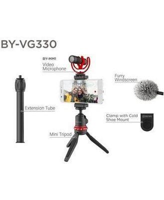 Boya BY-VG330 Vlogging Kit Mini Tripod, BY-MM1 Microphone & Cold Shoe Mount