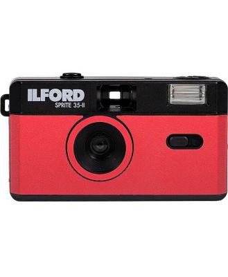 Ilford Sprite 35-II Reusable Camera - Black & Red