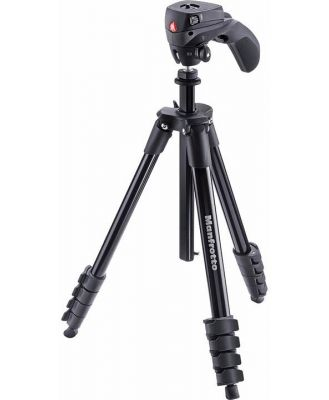 Manfrotto Compact Action - Black Tripod with Joystick Head & Carry Bag