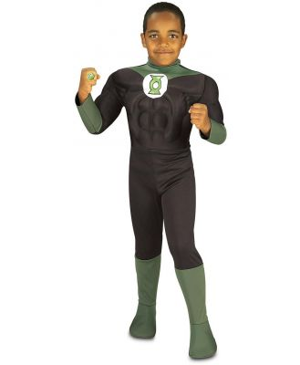 Green Lantern Muscle Chest Child Costume