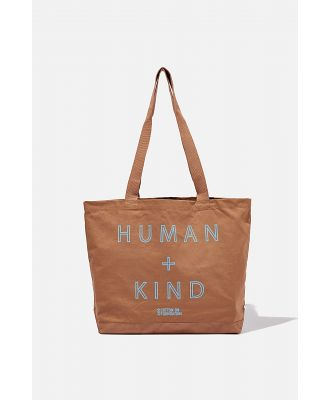 Cotton On Foundation - Foundation Exclusive Tote Bag - Human kind/cocoa bean