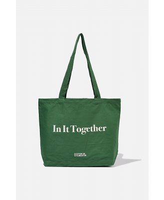 Cotton On Foundation - Foundation Exclusive Tote Bag - In it together/heritage green