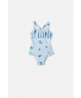 Cotton On Kids - Amber Frill One Piece - Frosty blue/pretty floral