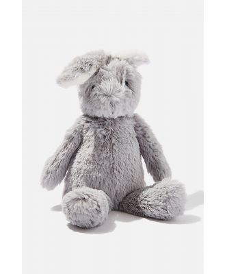 Cotton On Kids - Baby Snuggle Toy - Grey bunny