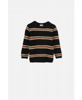 Cotton On Kids - Blake Knit Jumper - Black tan stripe