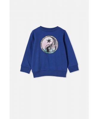 Cotton On Kids - Bond Crew - Ink blue/ying yang