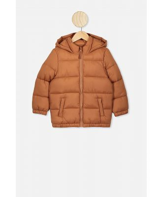 Cotton On Kids - Frankie Puffer Jacket - Amber brown