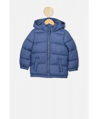 Cotton On Kids - Frankie Puffer Jacket - Petty blue dino