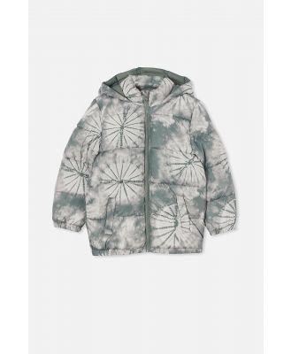 Cotton On Kids - Frankie Puffer Jacket - Swag green tie dye