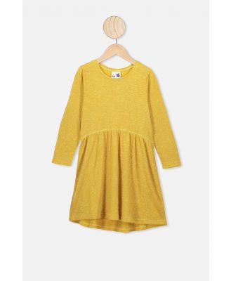 Cotton On Kids - Freya Long Sleeve Dress - Honey gold/texture
