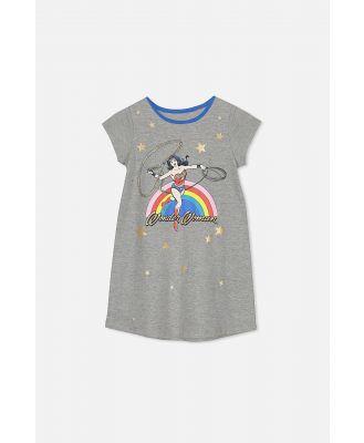 Cotton On Kids - Jessica Tee Nightie - Lcn wonder woman rainbow