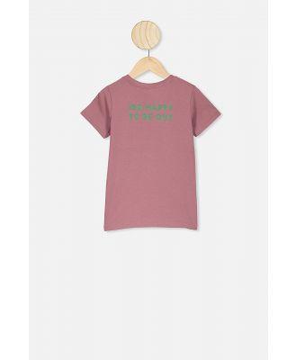 Cotton On Kids - Kids Slogan Short Sleeve Tee - Cali pink marle/girls support girls