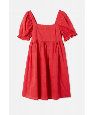 Cotton On Kids - Mama Lucy Short Sleeve Dress - Lucky red