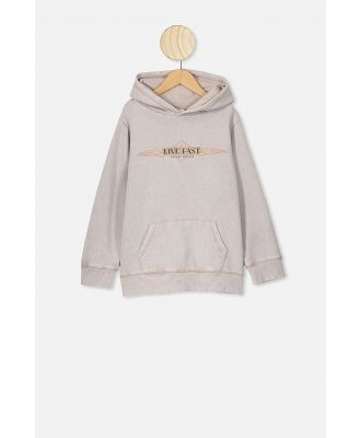 Cotton On Kids - Matrix Hoodie - Stone snow/live fast