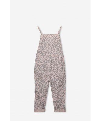 Cotton On Kids - Nikki Jumpsuit - Peach whip/leopard