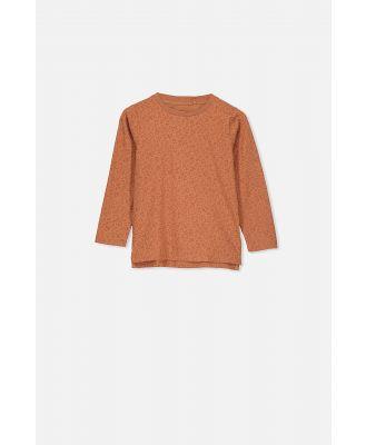 Cotton On Kids - Penelope Long Sleeve Tee - Amber brown marle leopard