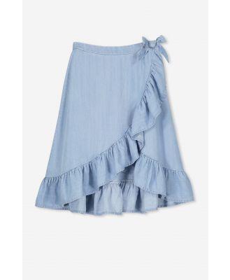 Cotton On Kids - Ria Ruffle Midi Skirt - Mid wash