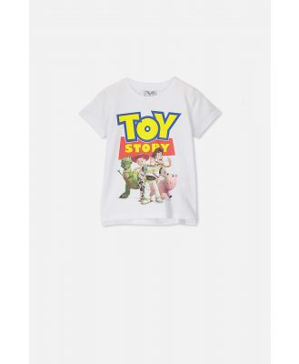 Cotton On Kids - Toy Story Short Sleeve Tee - Lcn dis toy story white