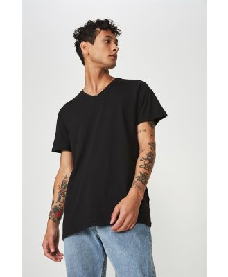 Cotton On Men - Essential Vee Neck T-Shirt - Black