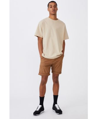 Cotton On Men - Washed Chino Short - Biscuit