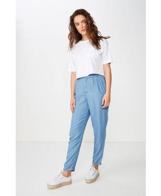 Cotton On Women - Abi High Waist Pant - Mid blue
