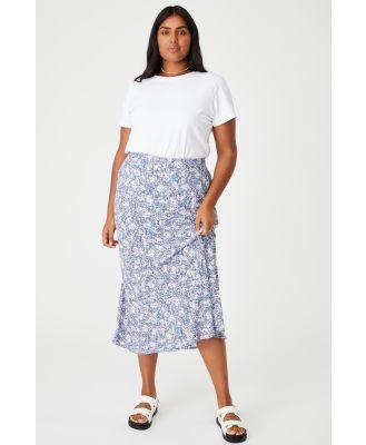 Cotton On Women - Curve All Day Slip Skirt - Diane floral coastal blue