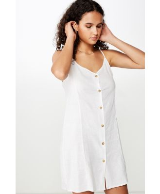 Cotton On Women - Woven Maisy Strappy Mini Dress - White