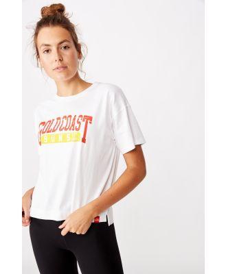 AFL - Afl Womens Cropped T-Shirt - Gold coast