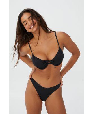 Body - Gathered Bum Brazilian Bikini Bottom - Black