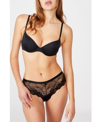 Body - Lace Brasiliano Brief - Black