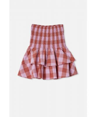 Free by Cotton On - Ester Skirt - Chutney/pale violet gingham