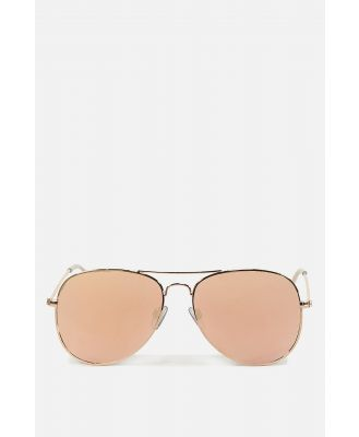 Rubi - Arabella Metal Sunglasses - Rose gold rose gold
