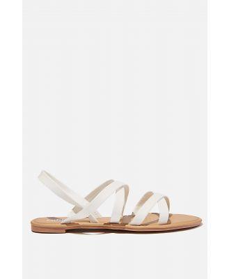 Rubi - Lucy Strappy Slingback Sandal - White pu