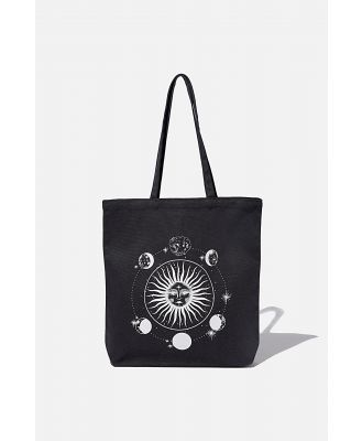 Supré - Canvas Tote - Washed black/sun-moon