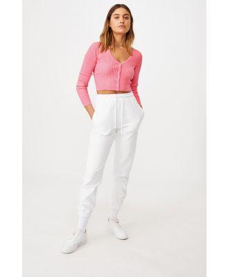 Supré - Olive Long Sleeve V Neck Cardi Knit - Punch pink