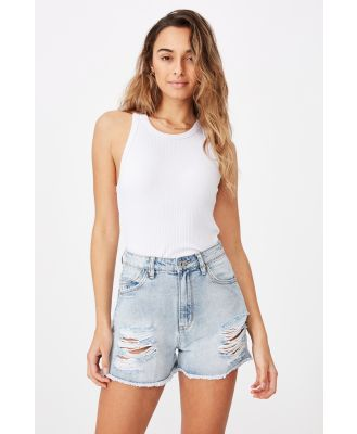Supré - Venice Mom Denim Short - Cali blue