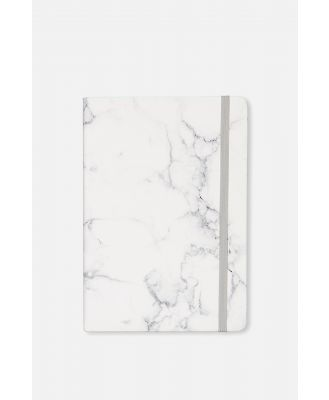 Typo - A5 Buffalo Journal - Marble with grey elastic