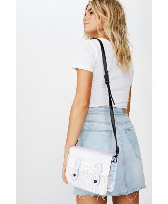 Typo - Mini Buffalo Satchel Bag - Holographic