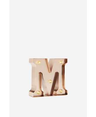 Typo - Mini Marquee Letter Lights 10cm - Rose gold m