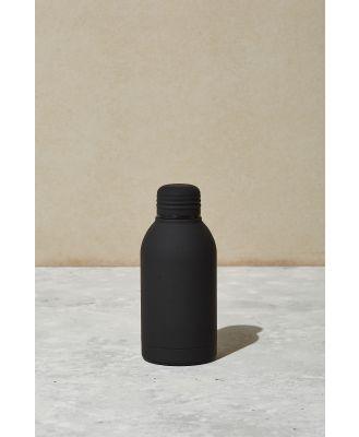 Typo - Mini Metal Drink Bottle - Black rubber