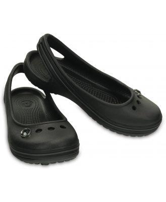 Crocs Kids' Genna II Gem Flat Black