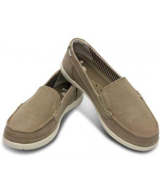 Crocs Walu Canvas Women Loafer Brown