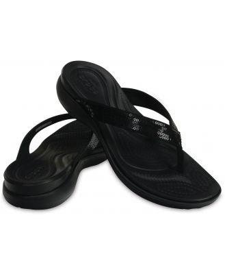 Crocs Women's Capri V Sequin Flip Black